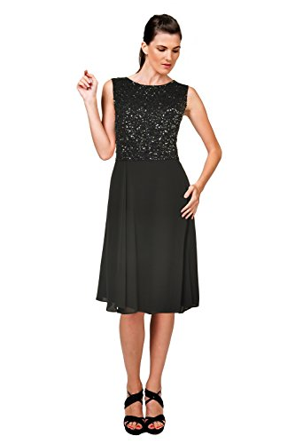 Armani Collezioni Sequined Sleeveless Flared Cocktail Evening Dress