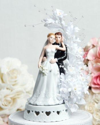 [Wedding Collectibles Calla Lily Arch Cake Topper] (Calla Lily Arch)