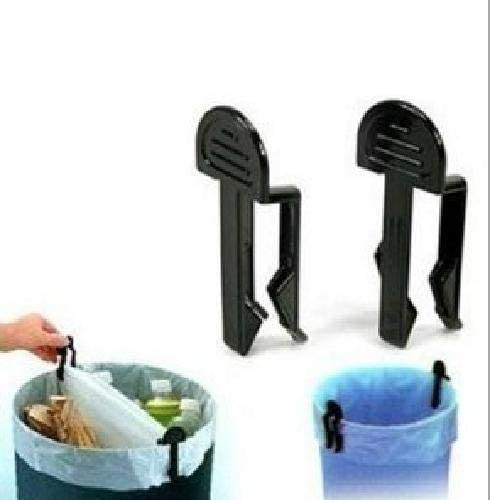 Igemy 2/pcs de cuisine Trash Garbage Sac poubelle Poubelle Peut support fixe pour Clip Clamp noir