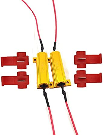 iBrightstar 50W 6ohm Load Resistors Fix LED Bulb Fast Hyper Flash Turn Signal Blink Error Code