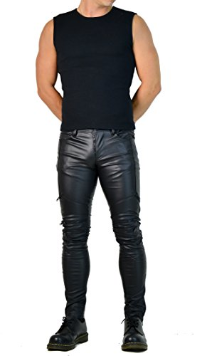Vinyl Zipper Pants - 7