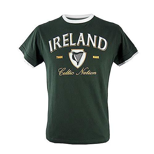 Ireland White Ringer T-Shirt-XXXLarge