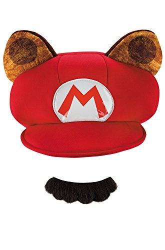(Racoon Super Mario Bros. Nintendo Child Hat & Mustache, One Size)