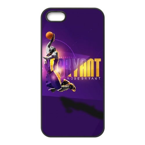 Kobe Bryant Wall coque iPhone 5 5S cellulaire cas coque de téléphone cas téléphone cellulaire noir couvercle EOKXLLNCD25361