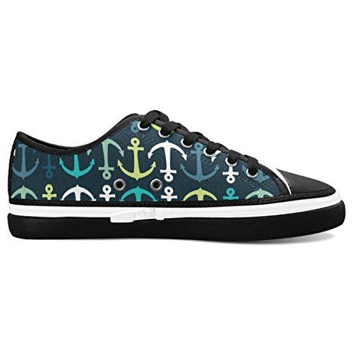 D-Story Custom Navy Anchor Womens Nonslip Canvas Shoes Fashion Sneaker 7iUxB9KVW9