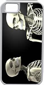 Quaroth Rikki KnightTM Two Skeletons looking at each other White Tough-It Case Cover for iPhone 5 (Double Layer case with...