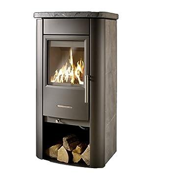 KOPPE estufa horno Baro 7 kW esteatita horno de carbón de madera ...