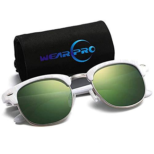 Polarized Sunglasses for Women and Men - wearPro Semi-Rimless Men Sunglasses polarized uv protection ()