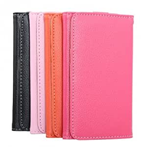 PU Leather Protective Case For JIAYU G3 G3S Android Phone --- Color:Rose Red