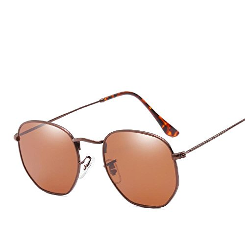 Sol Gafas de Sol E de Gafas Hombre de multilateral Gafas Irregulares Marea de de Brillante Mujeres y Calle Retra Disparar de Axiba General Hombres creativos de Sol Color Regalos Yq08wwx