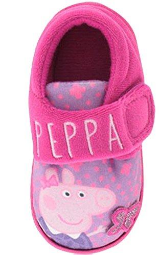 Easy Fit, Peppa Pig Theme Pantoffeln Für Mädchen, Mit Schmetterlingsdetail Auf Der Vorderseite - Pink - UK GRÖßEN 5-10