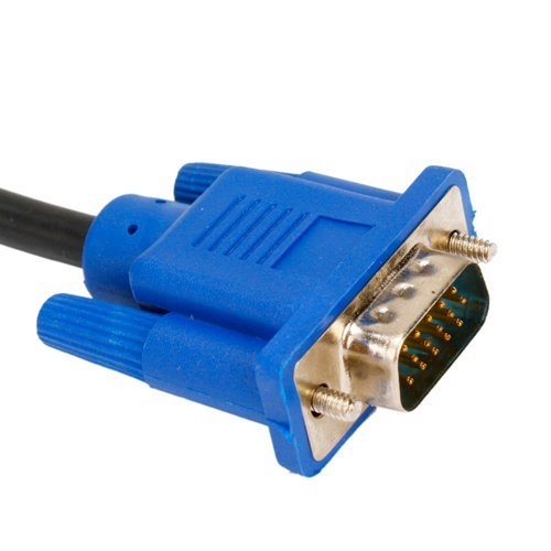 SoDo Tek TM 6 FT SVGA VGA Cable Video Cable For HP w1907 19 inch LCD Monitor / 15 Pin Male To Male