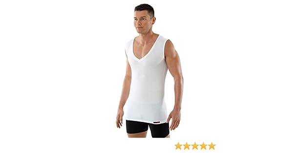 4db1cfcdc4c26 ALBERT KREUZ Men s Sleeveless Deep V-Neck Business Undershirt Of Breathable  Micromodal Light White at Amazon Men s Clothing store