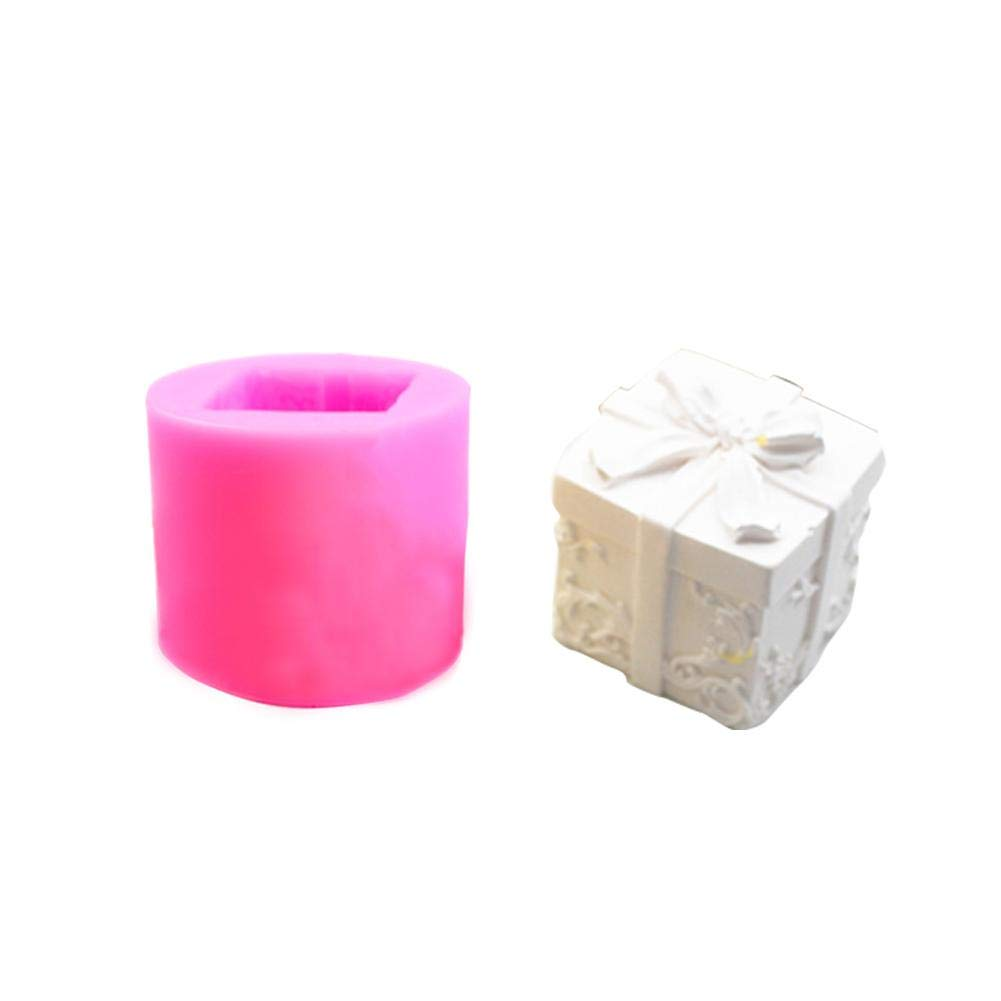 Quiet.T Candle Moulds, Silicone 3D Candle Molds DIY Resin Candy Fondant Soap Baking Candle Making Craft, 4cm x 3.5cm x 3.5cm - Pink