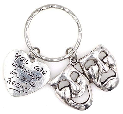 - You are Always in My Heart Comedy Tragedy Mask Theatre Keychain 112W