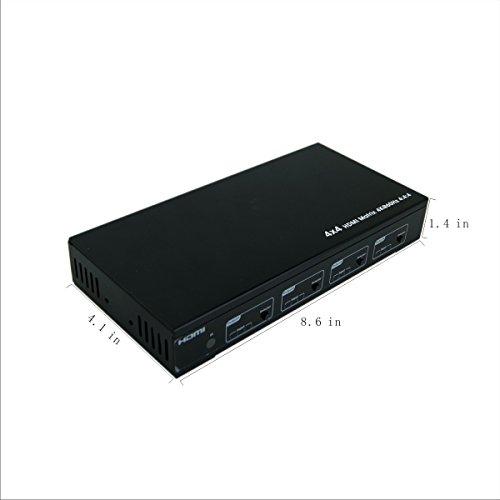 E-SDS 4K HDMI Matrix 4x4,HDMI Matrix Switch 4K 60Hz YUV4:4:4 18Gbps Support HDMI 2.0 ,HDCP 2.2 ,HDR,IR Remote Control,RS232 Control,Web GUI Control and SPDIF AUDIO Output by E-sds (Image #5)