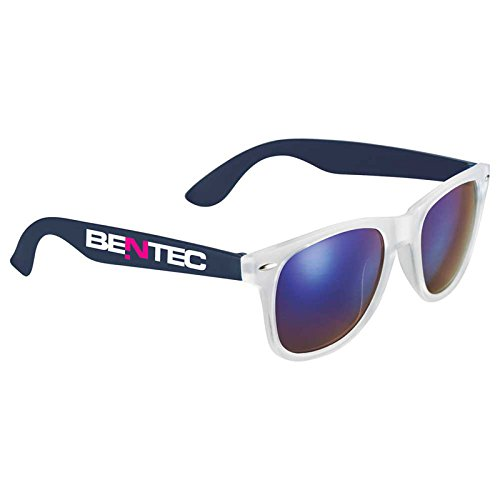 Sun Ray Sunglasses by iPromo - 150 Quantity – $2.60 each - (Promotional Product/Custom Branded with your specific Logo) (Navy - Custom Logo Sunglasses