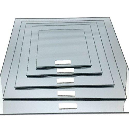 Square Mirror Base Centerpiece, 6-Pack, CASE Bulk (14-inch)