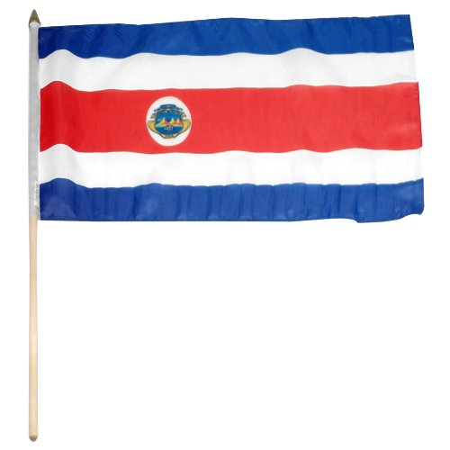 US Flag Store Costa Rica Flag, 12 by 18-Inch