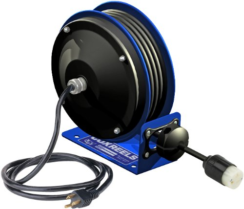 Coxreels PC10-3012-A Compact efficient heavy duty power cord reel with a single industrial receptacle (Cpc Receptacle)