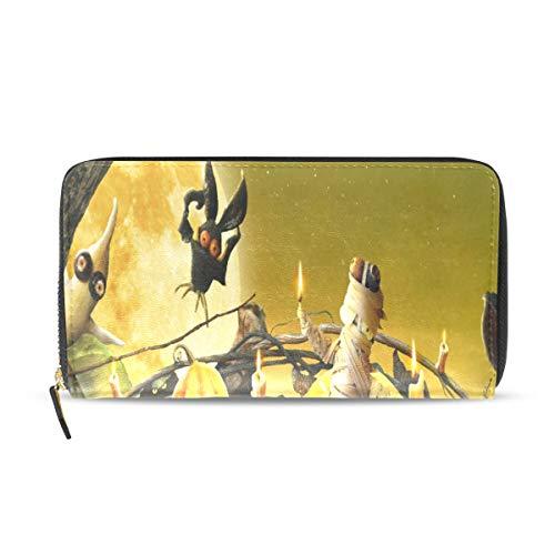Women's Wallet Halloween Cute Wallpaper Coin Purse Portable Zipper Wallet for Cards Cash -