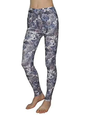 Womens Fashion Floral Print Stretchy Skinny Pants Leggings One Size Multicolor