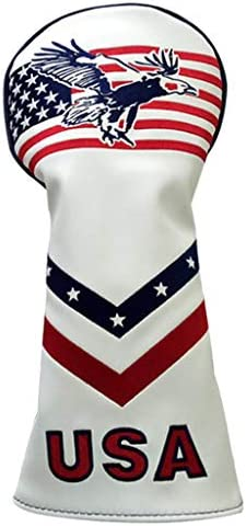 T TOOYFUL USA Flag Hout Driver Hoofdcover Golf Club Cover Guard Verwisselbaar NoTag