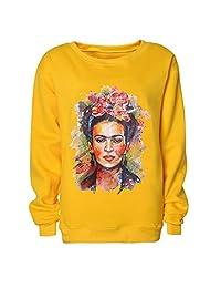 ZMLIA Frida Kahlo - Sudadera con Capucha para Mujer b0e4cb0305681