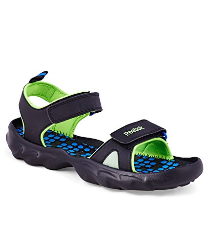 70688c316a12 Reebok Men s Super Drive 2.0LP Neon Green and Vital Blue Sandals and  Floaters (11