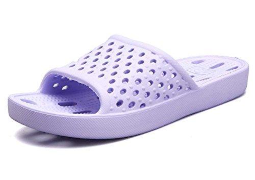Unisexe Extérieur AntidéRapant D'été Très EVA Violet Piscine Homme et Plage D'intérieur Ménage Tongs Chaussons Pantoufles Bain Léger Sandales Femmes Cool de Doux B7xC6wZ