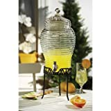 Buzz Glass Beverage Dispenser with Stand