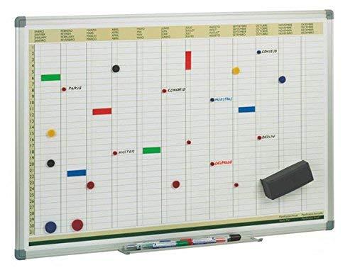 FAIBO 60/x 90/cm magnetisch Tafel f/ür Jahr Planung