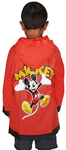 Disney Little Boys Mickey Mouse Waterproof Outwear Hooded Rain Slicker - Toddler