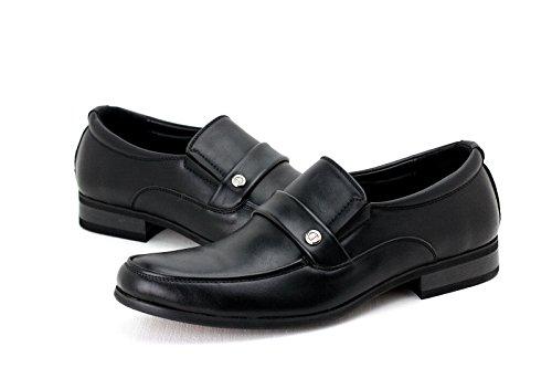 Hombre Zapatos De Vestir Sin Cordones Vestido De Trabajo Estilo Informal oficina diseño Mocasines Negro