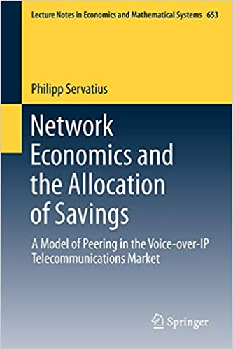 Network Economics and the Allocation of Savings: A Model of