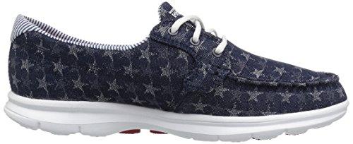 Skechers 14420, Chaussures Bateau Femme - Bleu - Denim, 36.5