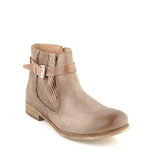 com Zapatos con Felmini Genuino Botines Cuero Marr cremallera para Alfa A003 Mujer Enamorarse dIwxRq8wB
