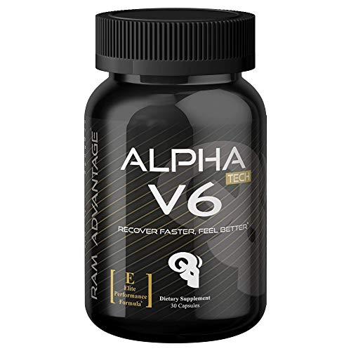 (5-HTP Mood Enhancement | Alpha V6 | Promotes Natural Stress and Anxiety Relief, Improved Sleep and Cell Regeneration | Designed with Powerful Natural Ingredients by RAM ADVANTAGE | 30 (ct))