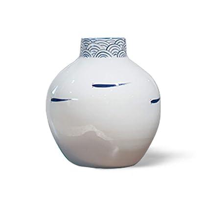 . Amazon com  Vase Blue and Porcelain Bottle Porch Living Room