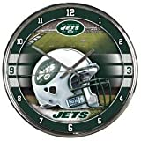 New York Jets Round Chrome Wall Clock - NFL Licensed