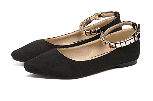 YCMDM donne ha indicato i pattini Scarpe bocca superficiale che ballano i pattini Scarpe Primavera Autunno singoli , black , 38