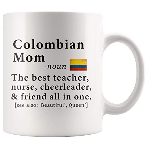 Colombian Mom Definition Colombia Flag Mothers Day - 11oz White Mug family reunion gifts Gift Idea ()