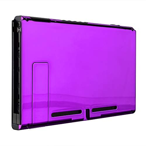 - eXtremeRate Chrome Purple Console Back Plate DIY Replacement Housing Shell Case for Nintendo Switch Console with Kickstand - JoyCon Shell NOT Included