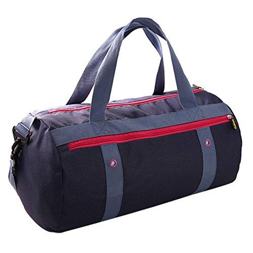 Lalawow 2 in 1 Doppelzonen separat für Trockene und Nasse Wasserdicht Strandtasche Schwimmtasche Duschtasche Sporttasche Packsack Handtasche (Rot)
