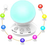 LED Night Lights, Bedside Table Night Lamps for Kids with 16 Color Changing RGB & 5 Level Dimmable Warm Wh