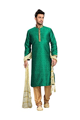 Kurta Pajama For Men Indian Designer Wedding Partywear Traditional Ethnic Festival Dress by daindiashop-USA