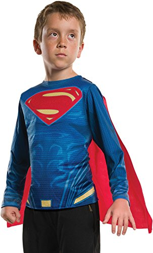Rubie's Costume Boys Justice League Superman Top Costume, Medium, Multicolor