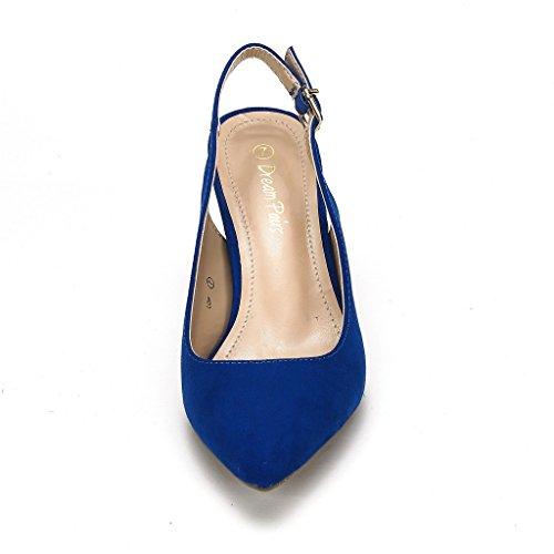 Lop Pump Royal Low Blue Heel Dream Pairs Women's Shoes STXE4E