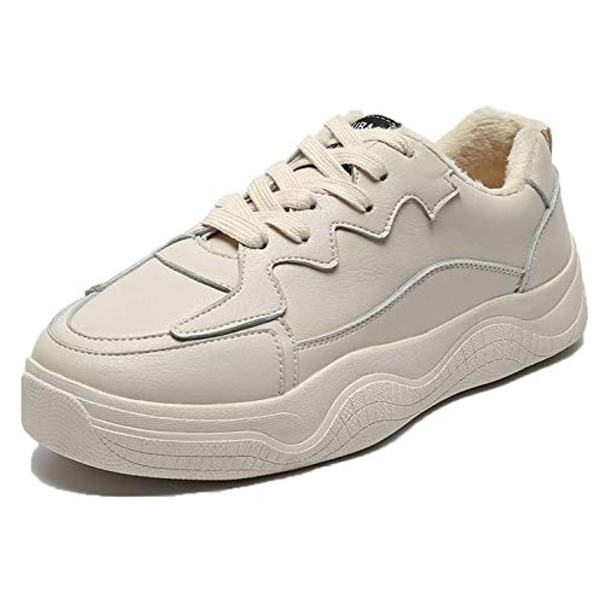 Simplec Sneakers Scarpe Da Corsa Sport Cuoio Morbido Donna Foderato Invernali Piatto Neve Più Velluto Stivaletti