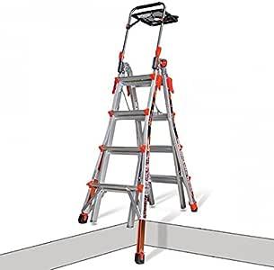 Little Giant escaleras 12317EN-801 W Xtreme con niveladores de carraca M17, aluminio, 4 x 4: Amazon.es: Bricolaje y herramientas